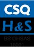 CSQ HS B&S OHSAS 18001
